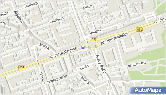 Przystanek MUZEUM NARODOWE 05. ZTM Warszawa - Warszawa na mapie Targeo