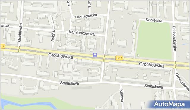 Przystanek Praga-Płd.-Ratusz 01. ZTM Warszawa - Warszawa na mapie Targeo
