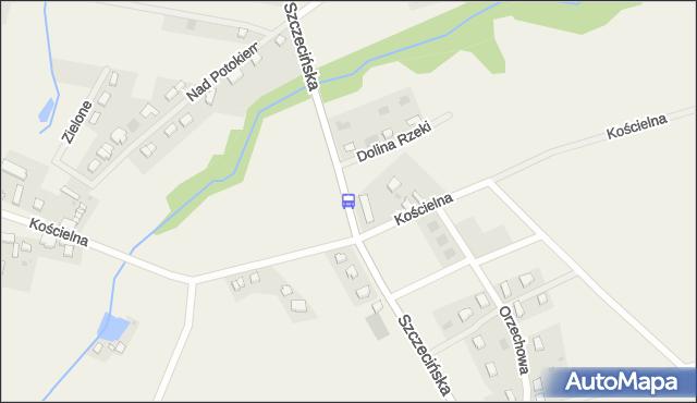 Przystanek Przęsocin Kościelna nż 12. ZDiTM Szczecin - Szczecin na mapie Targeo