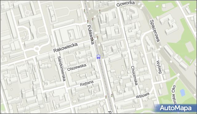 Przystanek RAKOWIECKA 05. ZTM Warszawa - Warszawa na mapie Targeo