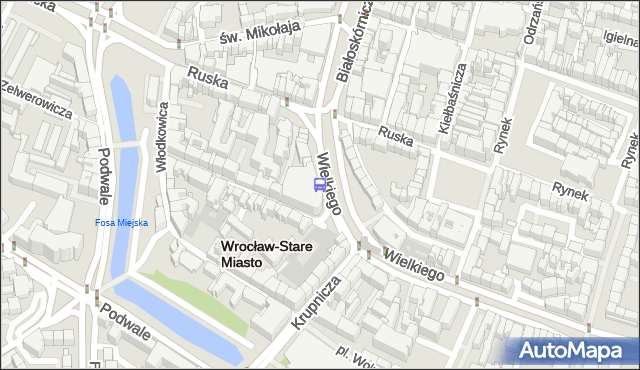Przystanek Rynek. MPKWroclaw - Wrocław na mapie Targeo