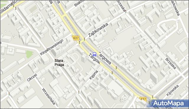 Przystanek ZĄBKOWSKA 03. ZTM Warszawa - Warszawa na mapie Targeo