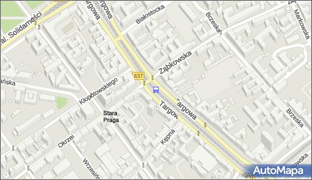 Przystanek ZĄBKOWSKA 04. ZTM Warszawa - Warszawa na mapie Targeo
