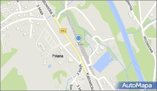 Ustroń Polana, 3 Maja 87, Ustroń 43-450 - Stacja, Dworzec kolejowy