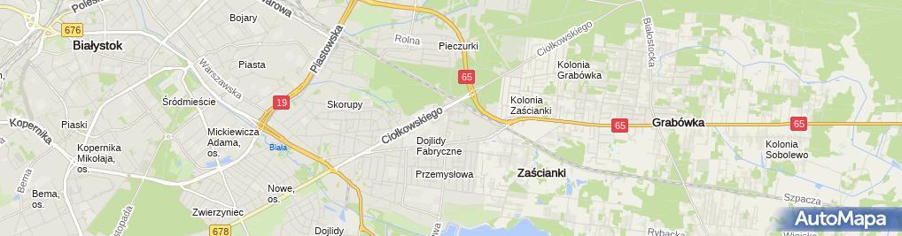 Zdjęcie satelitarne Drugi Urząd Skarbowy w Białymstoku