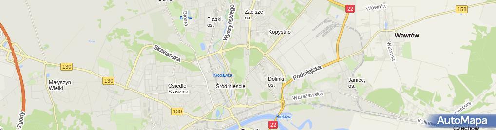 Zdjęcie satelitarne Dom studenta DeSant