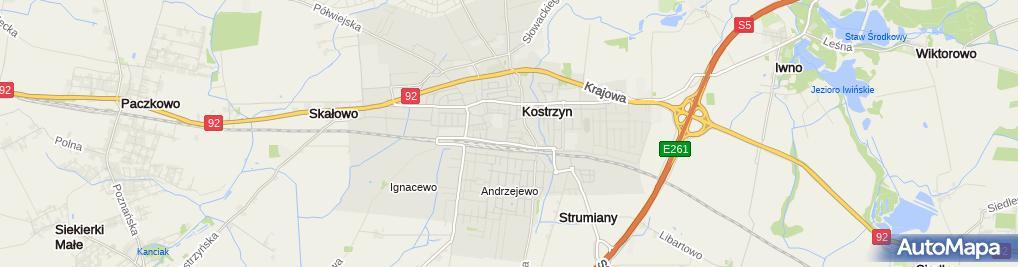 Zdjęcie satelitarne Kostrzyńska