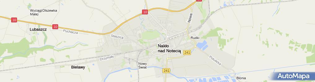 Zdjęcie satelitarne Przy Szkolnej