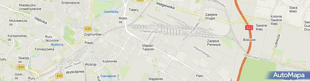 Zdjęcie satelitarne Agrokompleks S.C.