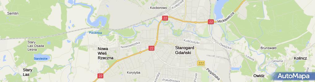 Zdjęcie satelitarne Autokomis