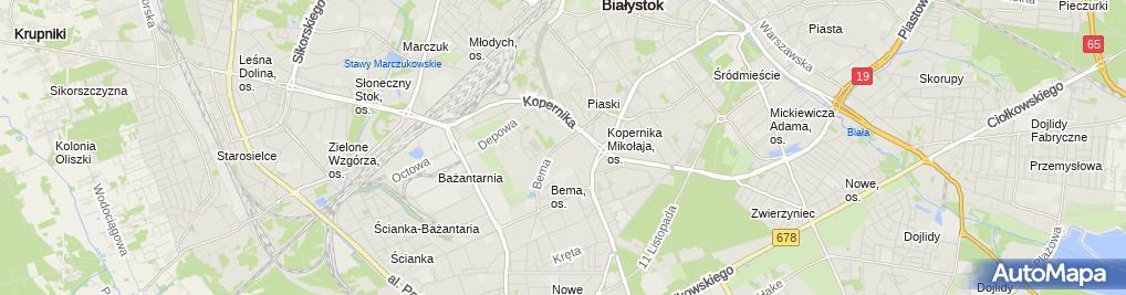 Zdjęcie satelitarne Paczkomat BIA930