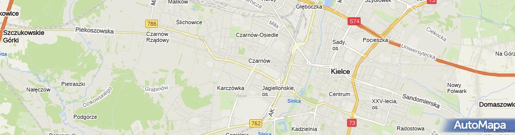 Zdjęcie satelitarne Paczkomat KIE01A