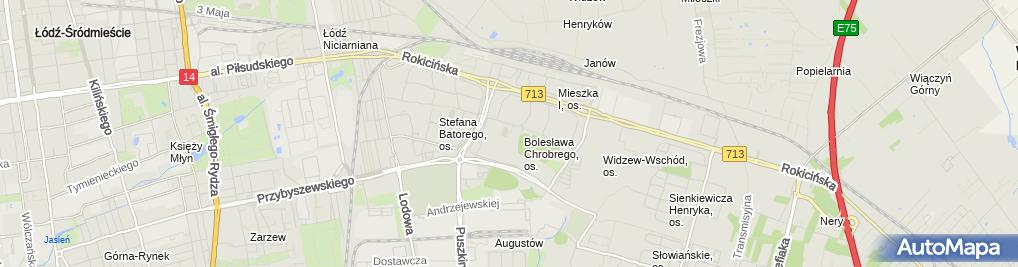 Zdjęcie satelitarne Basen