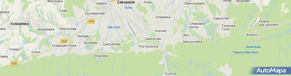Zdjęcie satelitarne Centralny Ośrodek Sportu