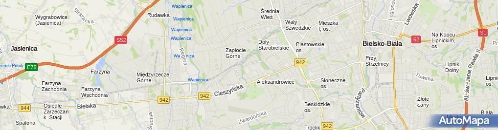 Zdjęcie satelitarne Książnica Beskidzka-Filia os.Wojska Polskiego