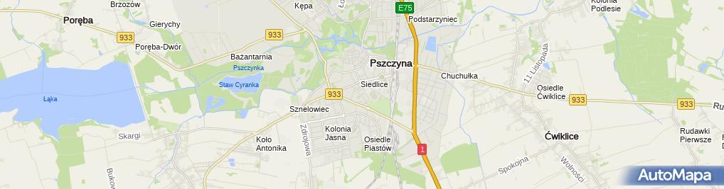 Zdjęcie satelitarne Miejsko-Powiatowa Biblioteka w Pszczynie - Filia nr 3