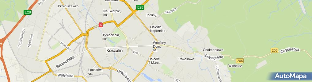 Zdjęcie satelitarne Salon meblowy BODZIO - Koszalin