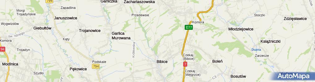 Zdjęcie satelitarne Klub Sportowy Bibiczanka Bibice