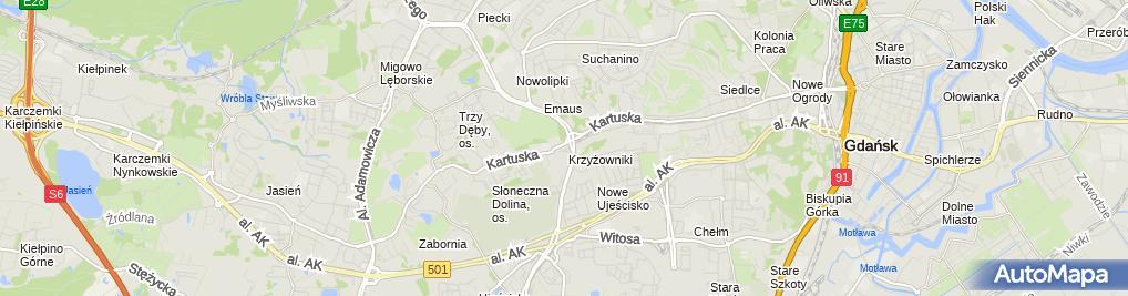Zdjęcie satelitarne Dom Korkowy