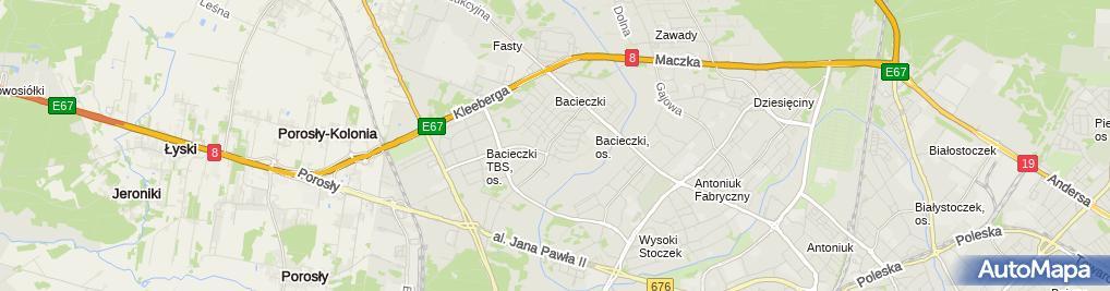 Zdjęcie satelitarne Budomex