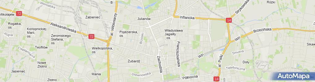 Zdjęcie satelitarne Hodo Roboty Drogowe Emil Kłobski