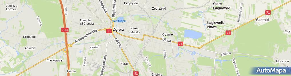 Zdjęcie satelitarne Jarosław Rybczyński - Działalność Gospodarcza