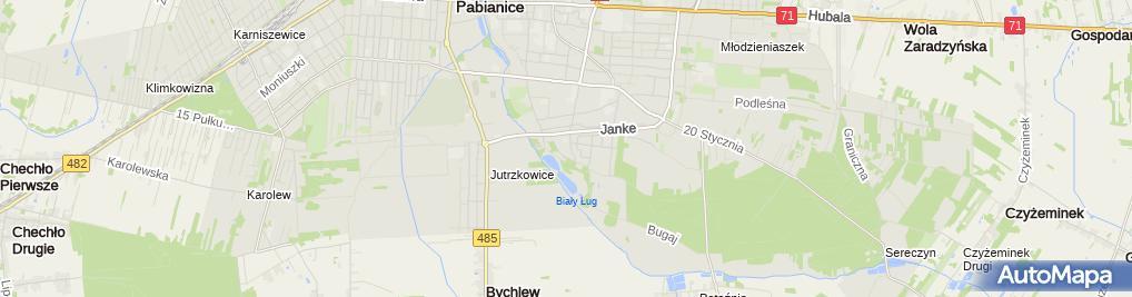Zdjęcie satelitarne Carrefour