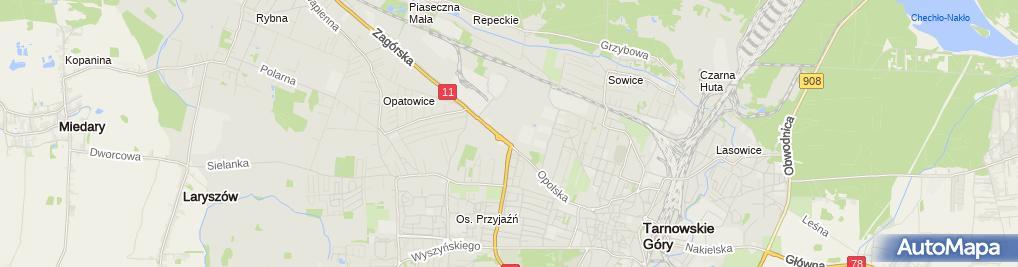 Zdjęcie satelitarne CH Tarnowskie Góry