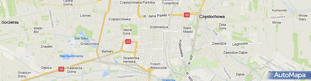 Zdjęcie satelitarne Cerkiew prawosławna w Częstochowie pw. Częstochowskiej Ikony Ma