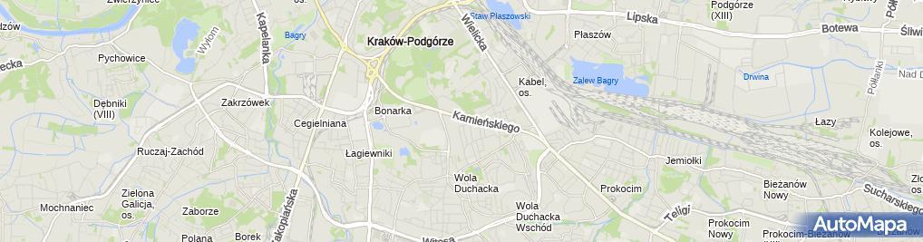 Zdjęcie satelitarne Efl SA Oddział Kraków