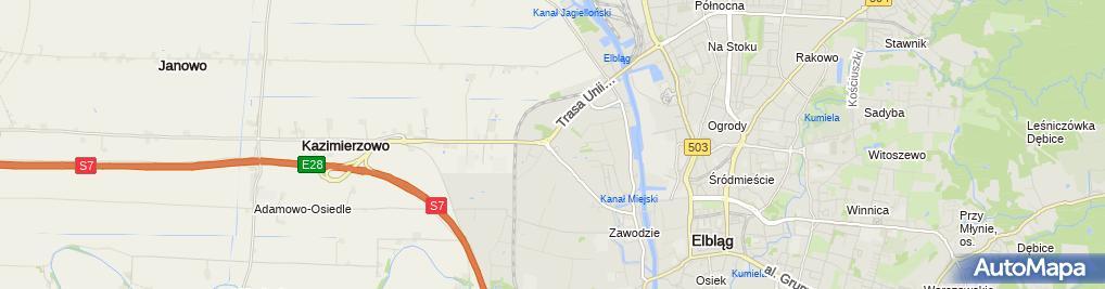 Zdjęcie satelitarne Polski Związek Motorowy