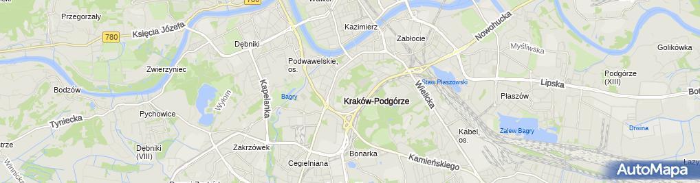 Zdjęcie satelitarne Fort 32 Krzemionki