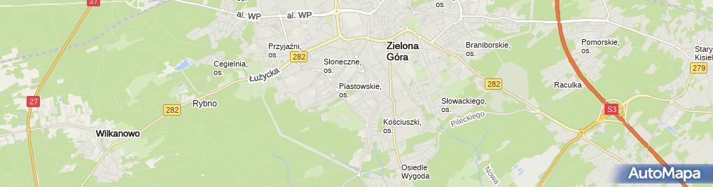 Zdjęcie satelitarne Zakony Franciszkanie