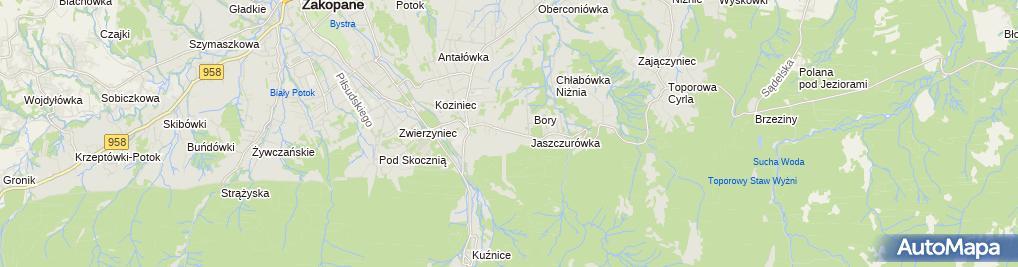 Zdjęcie satelitarne Kolej Linowa Nosal
