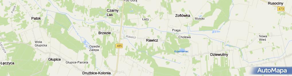 Zdjęcie satelitarne Rawicz (województwo łódzkie)