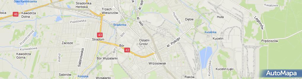 Zdjęcie satelitarne Gospoda Złoty Garniec
