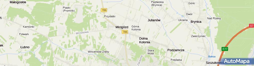 Zdjęcie satelitarne Zajazd 48