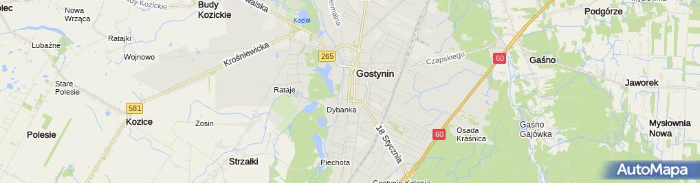 Zdjęcie satelitarne Komenda Powiatowa Policji
