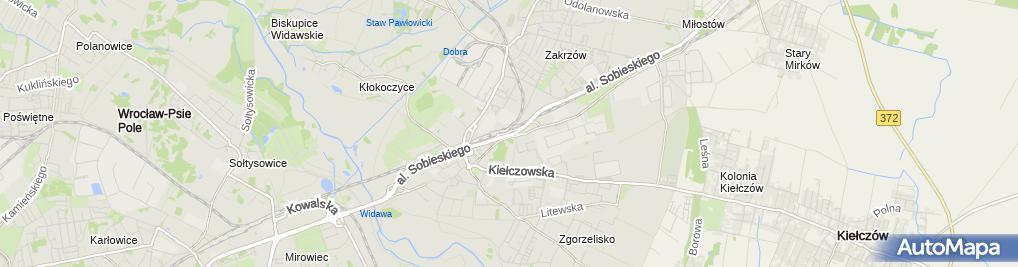 Zdjęcie satelitarne Kontrola Policji, pomiar prędkości