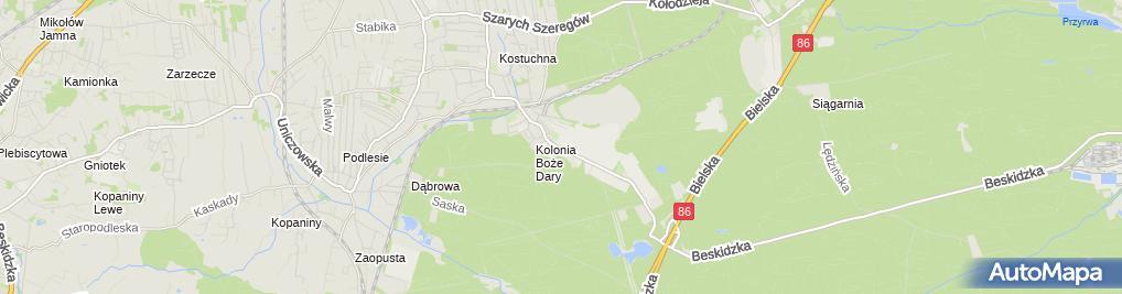 Zdjęcie satelitarne KWK Murcki