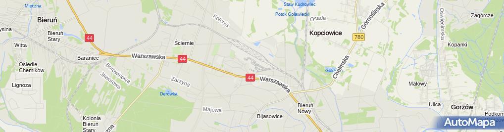 Zdjęcie satelitarne KWK PIAST
