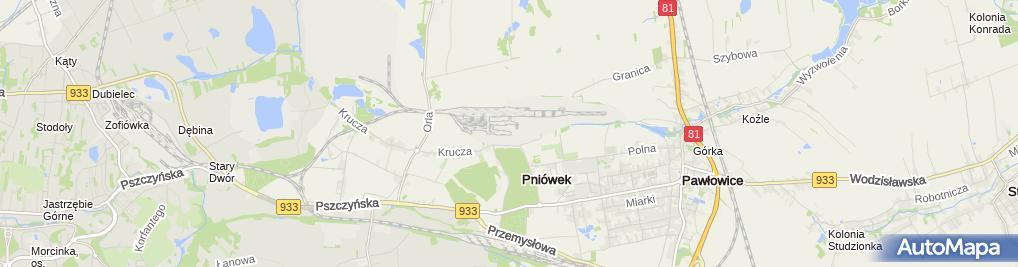 "Zdjęcie satelitarne KWK ""Pniówek"""