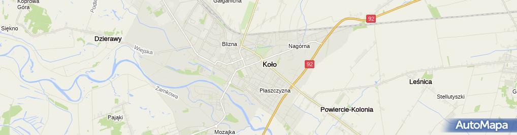 Zdjęcie satelitarne Kościół Świętego Bogumiła w Kole