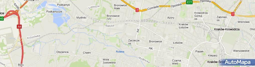Zdjęcie satelitarne XVIII LO w ZSO nr 8