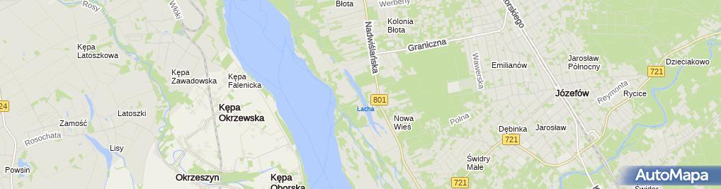 Zdjęcie satelitarne Jeź. Łacha - PZW