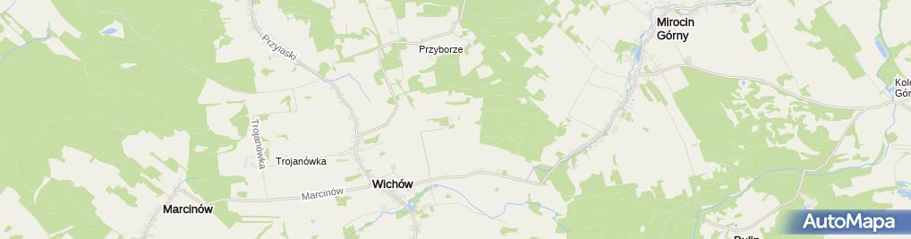 Zdjęcie satelitarne RTCN Wichów - Żagań