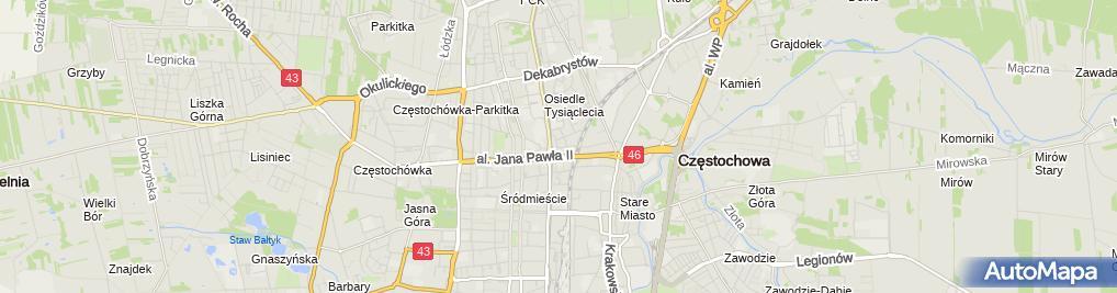 Zdjęcie satelitarne Delegatura - Śląski NFZ