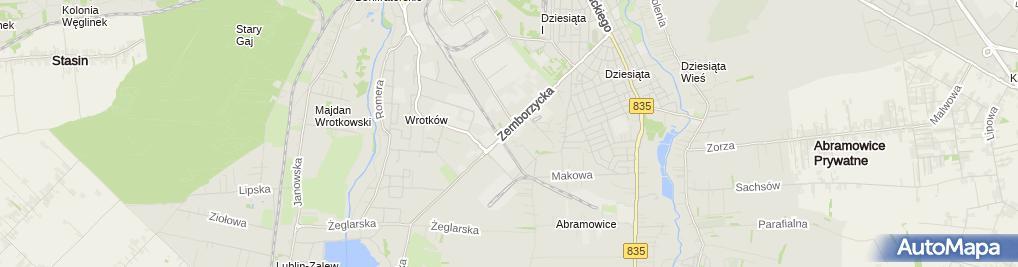 Zdjęcie satelitarne Firmowe Centrum Ogrodnicze PNOS