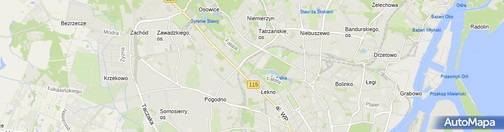 Zdjęcie satelitarne Różanka