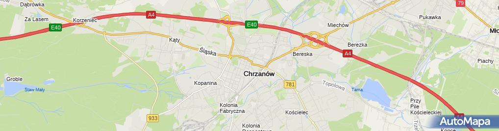 Zdjęcie satelitarne FUP Chrzanów